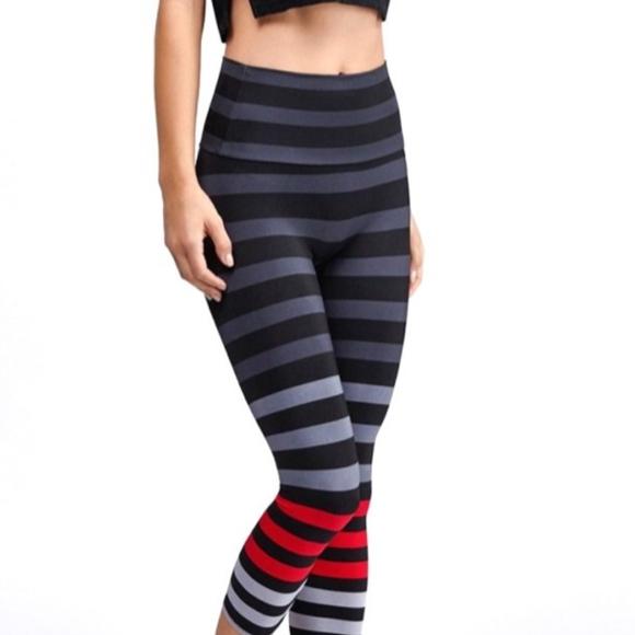 b9f411f7dc AMVIBE Pants | Red Sexy Striped Ladies Yoga Nwt | Poshmark